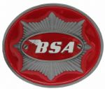 BSA Star (red) Belt Buckle with display stand. Code MH5
